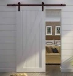 Country Steel Sliding Barn Door Hardware for $98 + free shipping