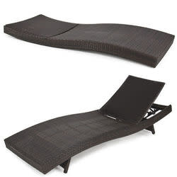 Adjustable Wicker Chaise Lounge for $185 + free shipping