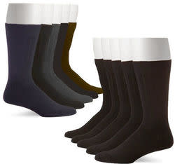 John Weitz Men's Platinum Dress Socks 10-Pack for $10 + free shipping