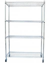 4-Tier Steel Wire Metal Shelving Rack for $60 + free shipping
