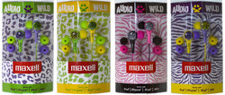 Maxell Wild Things Stereo Earbuds w/ Inline Mic 8-Pack for $13 + free shipping