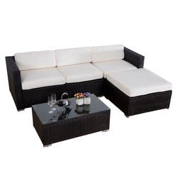 Rattan Patio Sectional 5-Piece Set for $580 + free shipping