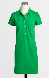 J.Crew Factory Women's Pique Polo Dress for $20 + free shipping