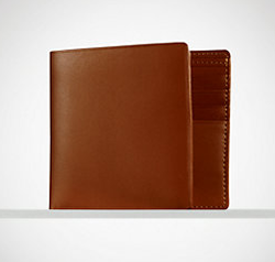 Ralph Lauren Gents Calfskin Billfold Wallet for $70 + $5 s&h