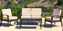 4-Piece Wicker Sofa Seating Set for $325 + free shipping