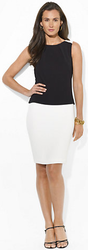 Ralph Lauren Women's Two-Toned Stretch Crepe Dress for $50 + $5 s&h