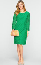 Talbots Women's Diamond-Eyelet Dress for $39 + $8 s&h