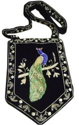 Hand-Embroidered Peacock Shoulder Bag for $44 + free shipping