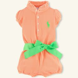 Polo Ralph Lauren Baby Girls' Neon Bubble Shortall for $10 + free shipping
