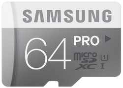 Samsung 64GB Pro UHS-I Class 10 microSDXC Card for $50 + free shipping