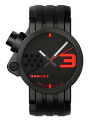 Oakley Men's Transfer Case Unobtainium Strap Watch for $399 + free shipping