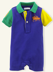 Ralph Lauren Layette Boys' Polo Shortall for $7 + free shipping