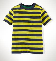 Polo Ralph Lauren Boys' Striped Cotton Pocket T-Shirt for $7 + free shipping