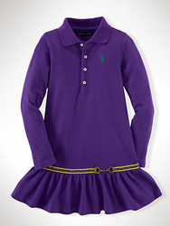 Polo Ralph Lauren Girls' Equestrian Dress for $26 + free shipping