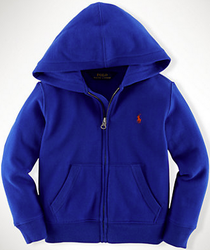 Polo Ralph Lauren Boys' Cotton Fleece Full-Zip Hoodie for $26 + free shipping