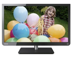 "Refurb Toshiba 23"" 1080p Ultra Slim LED LCD HDTV for $140 + free shipping"