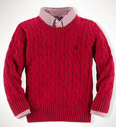 Polo Ralph Lauren Boys' Cable-Knit Cotton Sweater for $30 + free shipping