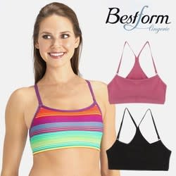 Bestform Women's Strappy Racerback Sport Bra 6-Pack for $13 + 22 cents s&h