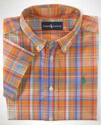Ralph Lauren Infant Boys' Plaid Cotton Blake Shirt for $11 + free shipping