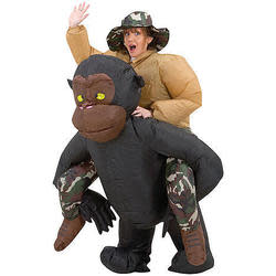 Inflatable Riding Gorilla Costume for $30 + $7 s&h
