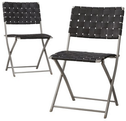 Threshold Russell Strap Patio Dining Chair 2-Piece Set for $85 + free shipping