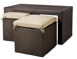 Atlantis 3-Piece Coffee Table Set w/ Tuck Under Seating for $234 + $40 s&h