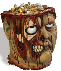 Bleeding Zombie Head Bucket for $10 + $6 s&h