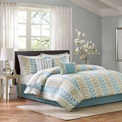 Home Essence Elle 7-Piece Comforter Set for $40 + $6 s&h