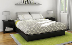 Step One King Platform Bed with Mouldings for $192 + free shipping