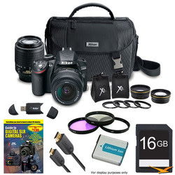 Nikon D3200 24MP Digital SLR w/ 4 Lens Bundle for $567 + free shipping