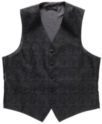 Jos. A. Bank Men's Black Tonal Paisley Vest for $110 + free shipping