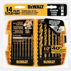 Dewalt 14-Piece Titanium Drill Bit Set for $15