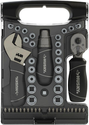 Husky Stubby 45-Piece Wrench / Socket Set for $15