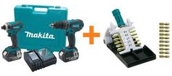 Makita 18-Volt Combo Kit w/ 21-Piece Bit Set $149