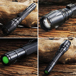 Tactical Cree XML T6 4,000-Lumen LED Flashlight $8