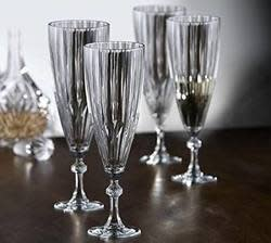Fifth Avenue Crystal Champagne Flute 4pk for $8