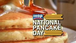 IHOP National Pancake Day: Stack of pancakes free