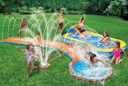 Banzai Aqua Drench Inflatable Splash Park for $27