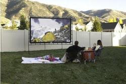 "Camp Chef 140"" Outdoor Projection Screen for $195"