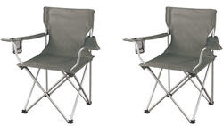 Ozark Trail Regular Arm Chairs 2-Pack for $14