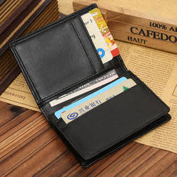Men's Leather Bifold Wallet with Money Clip for $3