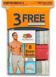 Fruit of the Loom Men's Boxer Briefs 8-Pack $12