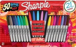 Sharpie Permanent Markers 21-Pack for $9