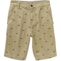 Faded Glory Men's Printed Twill Shorts for $7