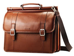 "Samsonite Leather Dowel Flapover 16"" Case for $60"