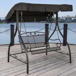 Mainstays Jefferson Wrought Iron Outdoor Swing $99