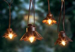 Bronze Metal Lantern Lights 10-Pack for $14