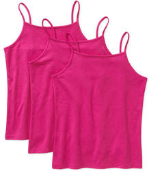 Faded Glory Girls' Solid Cami 3-Pack for $4