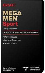 GNC Mega Men Sport 90-Count Multivitamins for $9