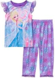 Disney Frozen Girls' Short Sleeve Pajamas for $5